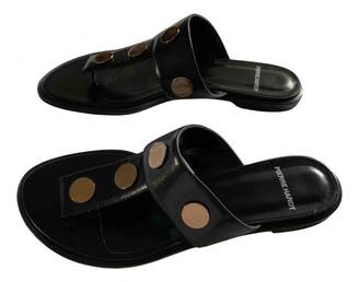 Pierre Hardy Black Leather Flats