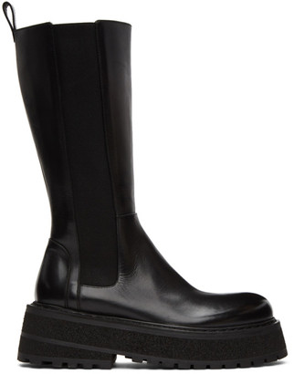 Marsèll Black Carretta High Chelsea Boots