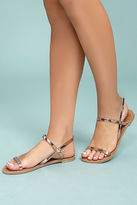 Qupid Rika Rose Gold Flat Sandals