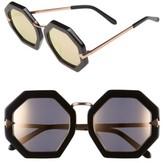 Karen Walker Women's 'Moon Disco' 53Mm Sunglasses - Black With Rose Gold