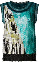 Issey Miyake textured tank top