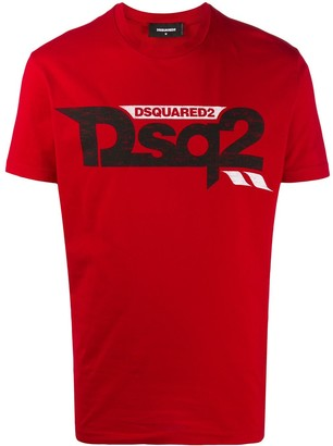 DSQUARED2 logo print short-sleeve T-shirt