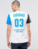 adidas Boldpanel T-Shirt In White AZ1049