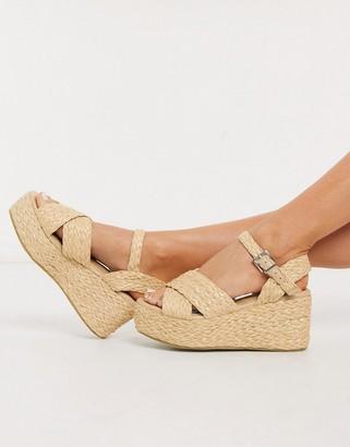 Raid Adalyn flatform sandals in natural