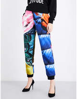 Moschino Printed skinny cotton-jersey jogging bottoms
