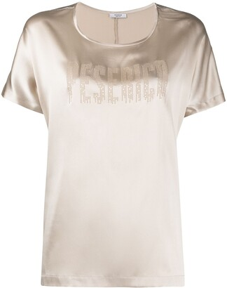 Peserico Short-Sleeve Blouse