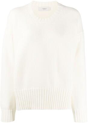 Pringle chunky-rib dropped-shoulder sweater
