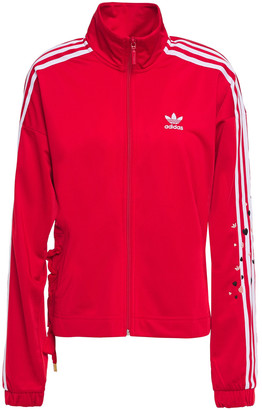 adidas Striped Stretch-jersey Track Jacket
