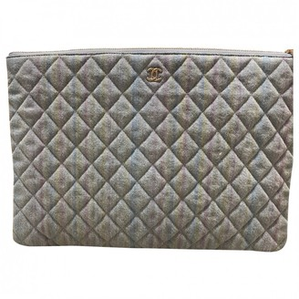 Chanel Timeless/Classique Blue Cloth Clutch bags