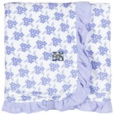 Kickee Pants Print Ruffle Stroller Blanket - Forget Me Not Floral