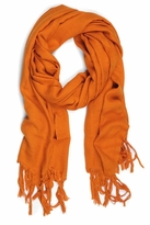 LoveQuotes Scarves Love Quotes Linen Knotted Fringe Scarf in Amber