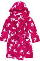 Hatley Children's Unicorn Fleece Robe, Pink