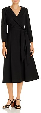 Lafayette 148 New York Olivia Ruched Faux Wrap Dress