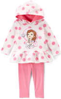 Children's Apparel Network Sofia the First Polka Dot Ruffle Hoodie & Leggings - Infant