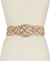 INC International Concepts Metallic Woven Belt, Created for Macy's