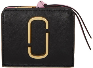 Marc Jacobs Black and Gold Mini Snapshot Compact Wallet