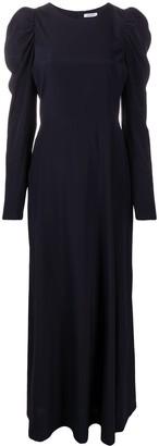 P.A.R.O.S.H. Juliet-sleeve silk long dress