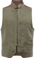Ann Demeulemeester military gilet - men - Silk/Cotton/Linen/Flax/Rayon - S