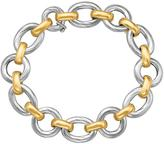 Ice 18K Yellow Gold and Sterling Silver Diamond Cut Rhodium Plated Bracelet