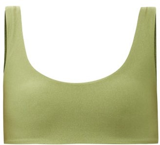 JADE SWIM Rounded Edges Scoop-neck Bikini Top - Green