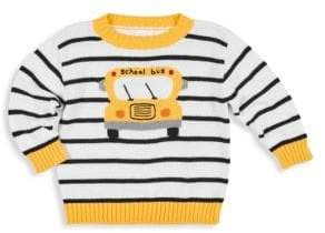 Florence Eiseman Baby Boy's& Little Boy's Bus Pullover Sweater - White/Black - Size 18 Months
