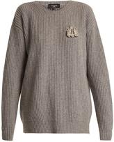Rochas Bee-embellished wool sweater