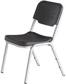 Iceberg Enterprises Armless Office Stackable Chair Seat Finish: Black