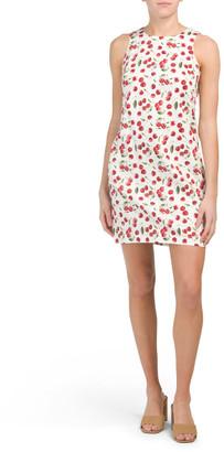 Cherry Print Sateen Dress