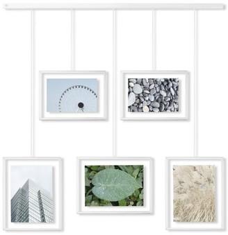 Umbra White Exhibit Adjustable Multi Photo Display Frame