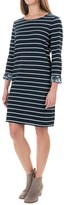 St Tropez West St. Tropez West Stripe Terry-Knit Dress - 3/4 Sleeve (For Women)