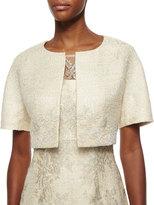 Kay Unger New York Short-Sleeve Lace Tweed Jacket