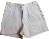 Vanessa Seward Ecru Cotton Shorts