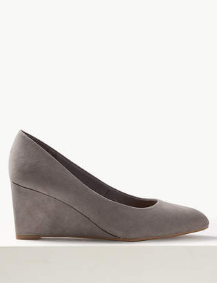 M&S CollectionMarks and Spencer Wedge Heel Court Shoes