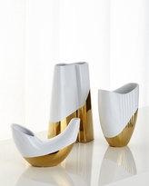 Global Views Metallic Dipped Oval Vase