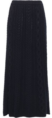 Valentino Cable-knit Wool And Cashmere-blend Wrap Maxi Skirt