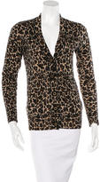 Tory Burch Wool Cheetah Print Cardigan