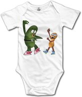 YEARla Unisex Lovely Pickle And Peanut Baby Rompers Baby Onesie Short Slev