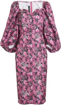 Rotate by Birger Christensen Irina Puff Sleeve Floral Dress