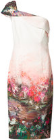 Black Halo landscape print midi dress - women - Polyamide/Spandex/Elastane/Polyimide - 2
