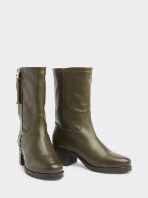 Tommy Hilfiger Block Heel Short Leather Boots