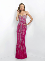 Blush Lingerie X321 Ornate Strapless Sheath Gown