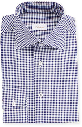Brioni Men's Gingham Check Long-Sleeve Dress Shirt