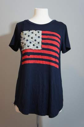 Ami 12pm By Mon Denim-Accent Usa Tee