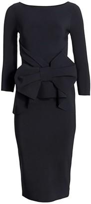 Chiara Boni Yolanda Bow Sheath Dress