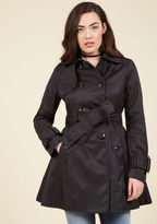 Betsey Johnson Coffee Break From the Norm Trench in Black in XS