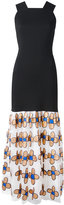 Christopher Kane bodycon dress with flower skirt - women - Nylon/Polyester - 38