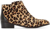 La Redoute Collections Premium Leather Ankle Boots in Leopard Print
