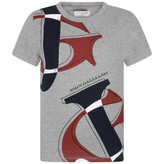 John Galliano John GallianoBoys Grey Logo Print Top