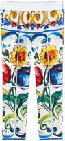 Dolce & Gabbana Printed silk blend pants Maiolica