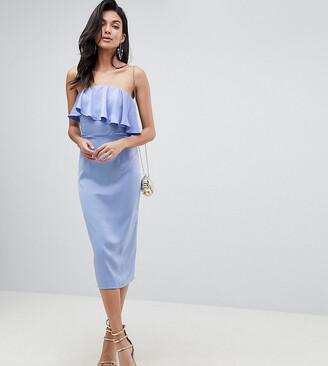 ASOS DESIGN Tall soft bandeau crop top pencil dress